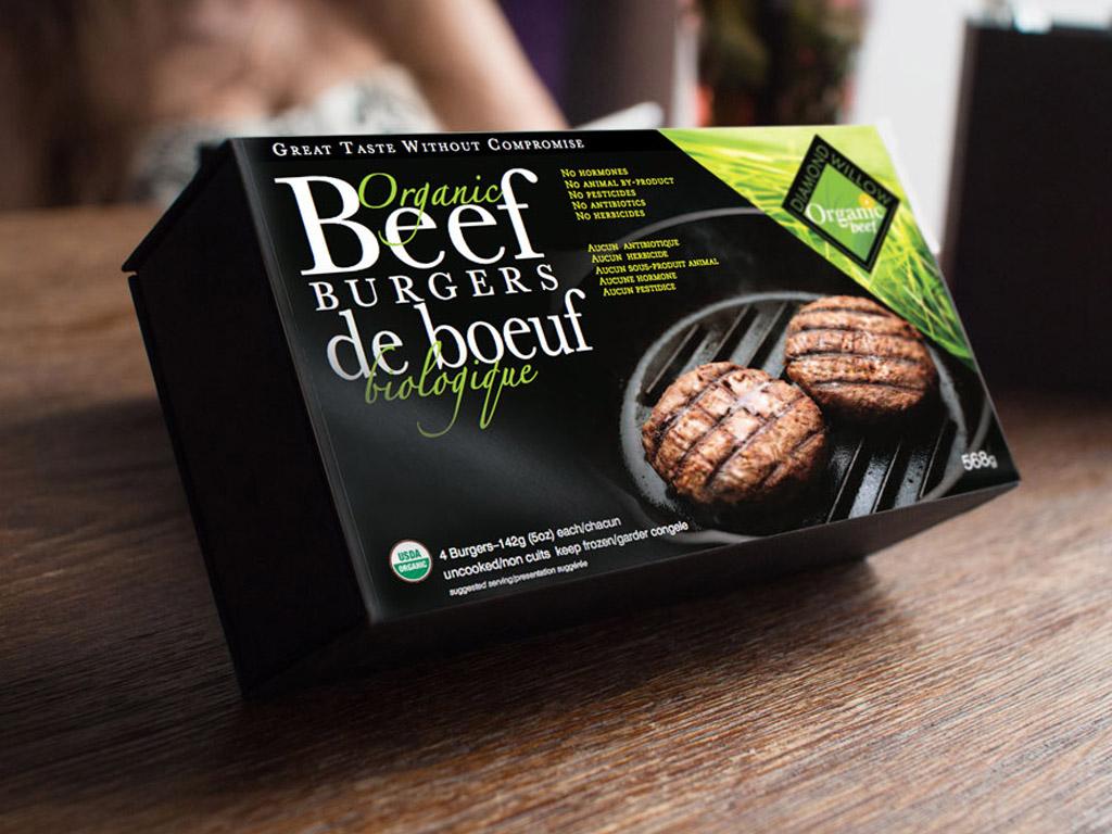Western Canadian Organic Meat packaging.